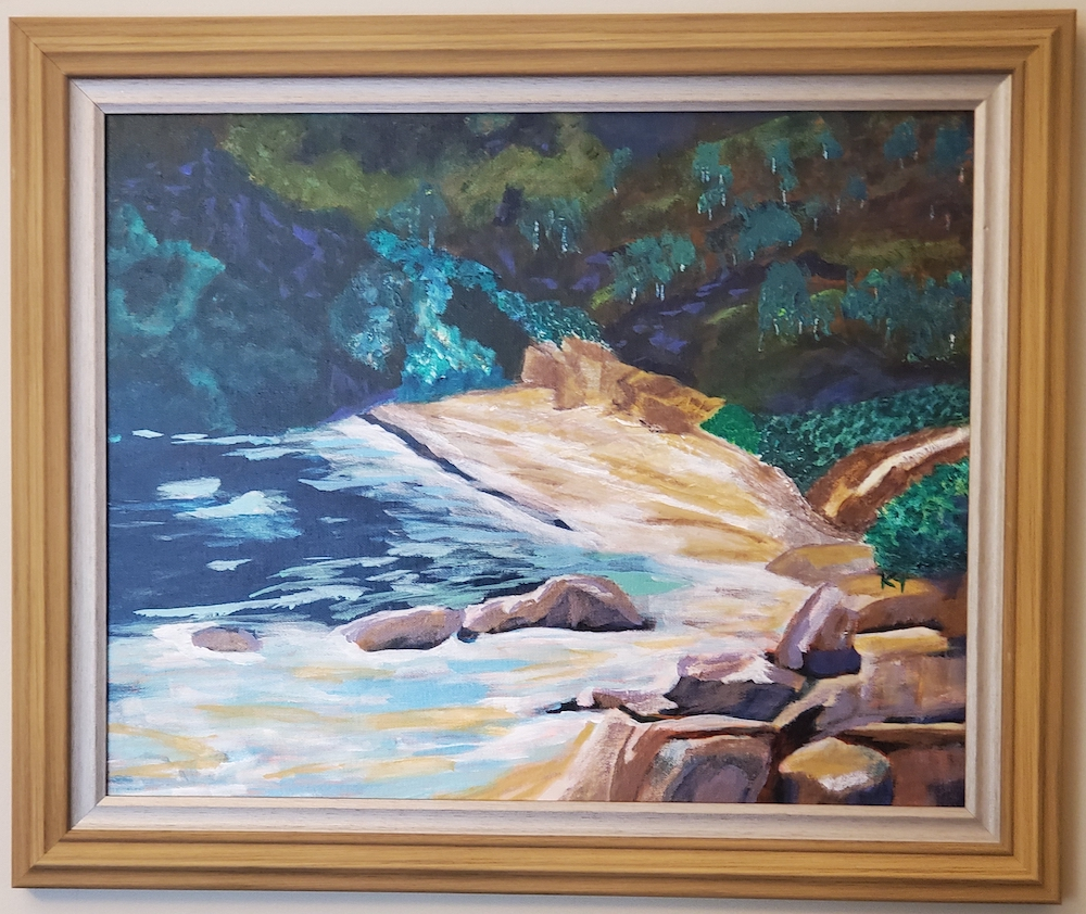 Hidden Cove, acrylic
