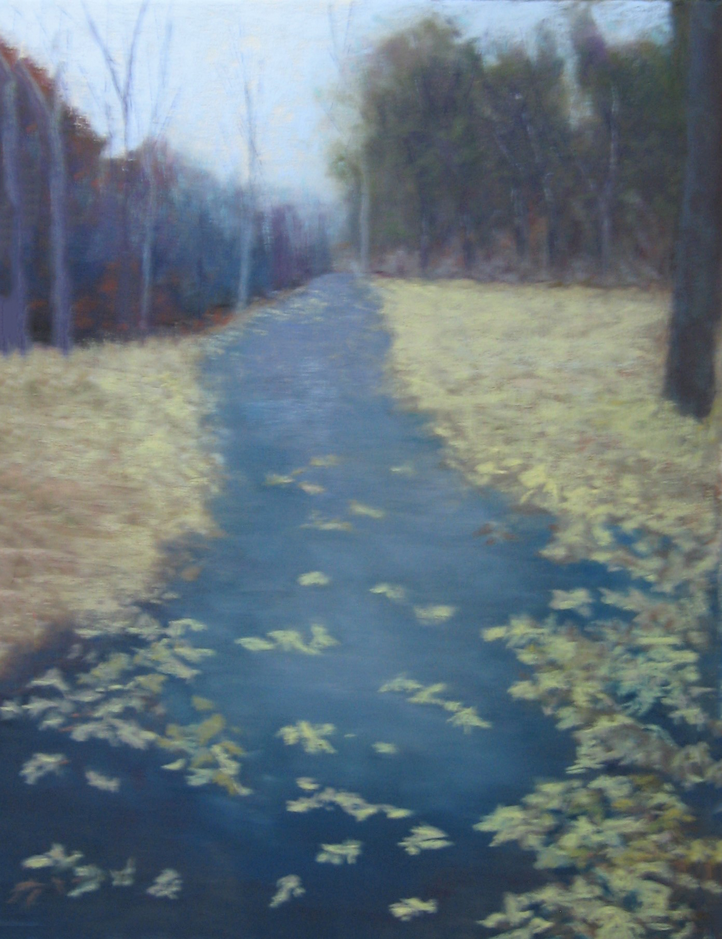 Autumn Leaves, pastel