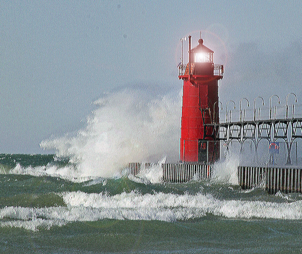 South Haven Light, digital photography