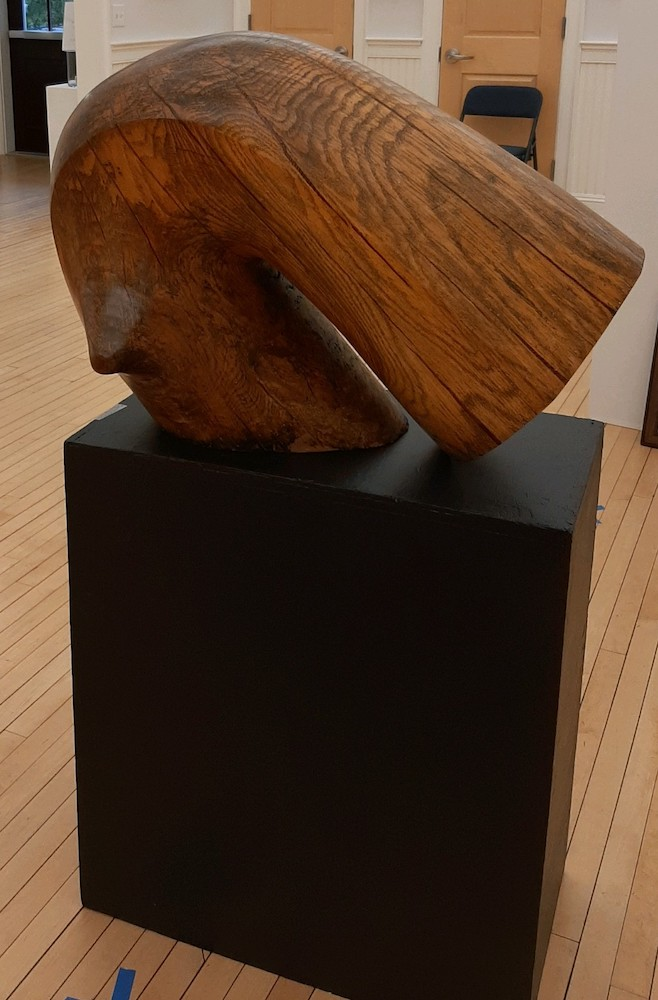 Nightcrawler, wood sculpture