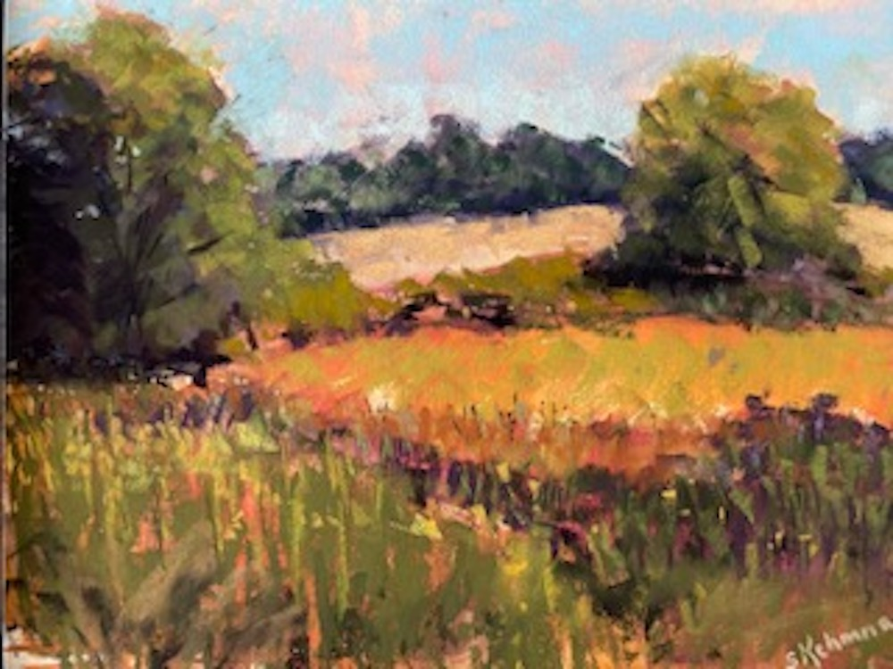 Late Summer Fields, pastel
