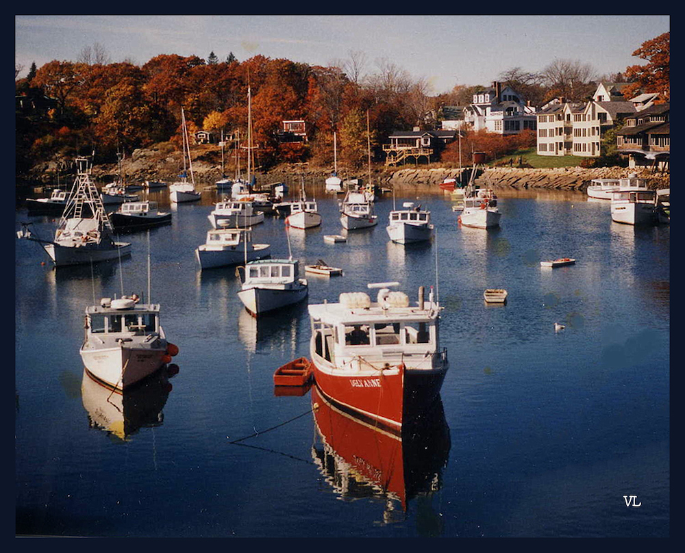 Fall at Perkins Cove, Maine, photography