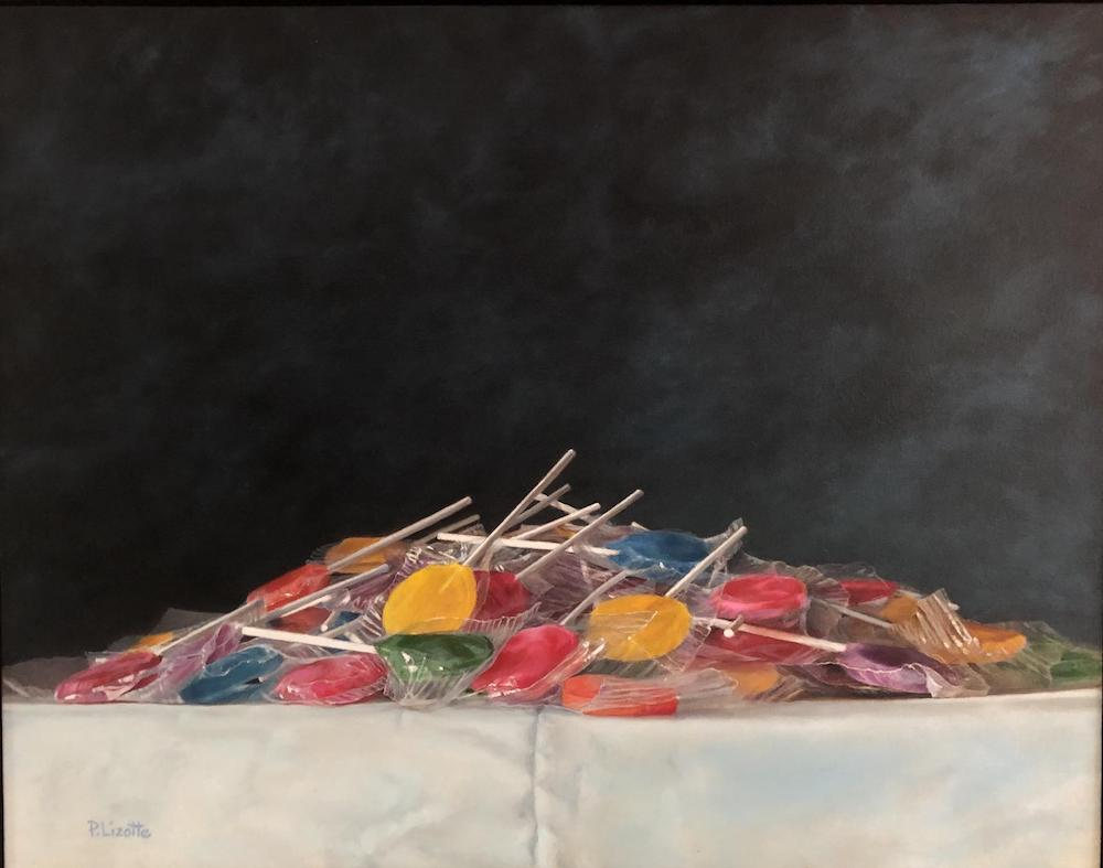 Lollipop Pile, oil, 1100